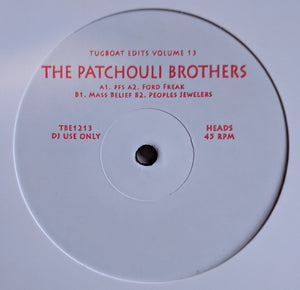 "PATCHOULI BROS - TUGBOAT EDITS VOL. 13 12"" (TUGBOAT EDITS)"