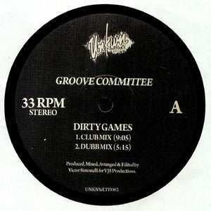 "GROOVE COMMITTEE - DIRTY GAMES 12"" (UNKWN)"