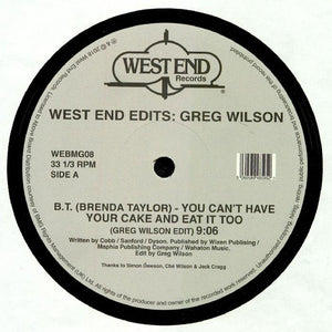 "GREG WILSON - WEST END EDITS D12"" (WEST END)"