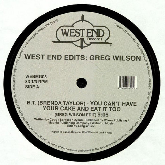 GREG WILSON - WEST END EDITS D12