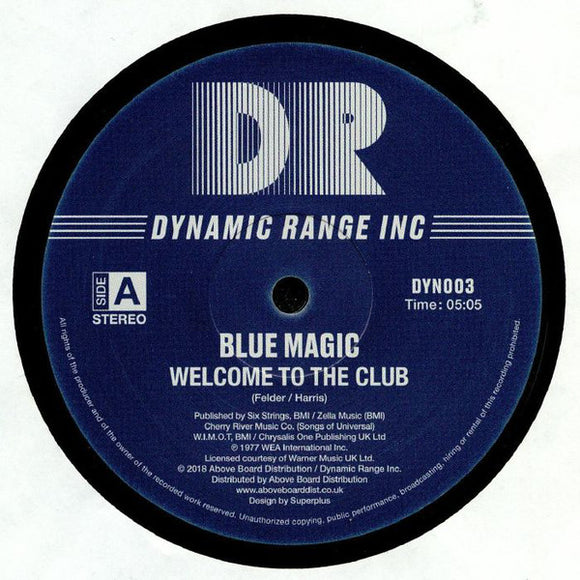 BLUE MAGIC - WELCOME TO THE CLUB 12