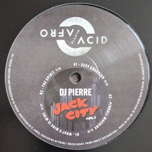"DJ PIERRE - JACK CITY VOL 1 12"" (AFRO ACID PLASTIK)"