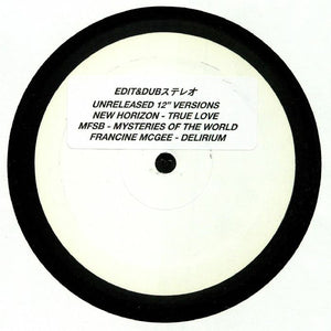 "EDIT & DUB - NEW HORIZON 12"" (EDIT & DUB)"