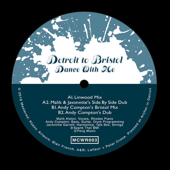 DETROIT TO BRISTOL - DANCE WITH ME 12