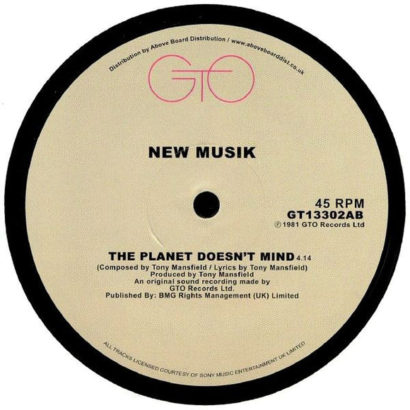 NEW MUSIK - THE PLANET DOESN'T MIND 12