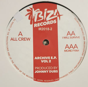 "JOHNNY DUBS - ARCHIVE VOL 2 12"" (IBIZA)"