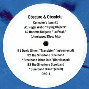 "<p><p><p><p>Outstanding selection from diggin' fanatics OBSCURE & OBSOLETE with their EP ""COLLECTOR'S ITEM #1"". Smooth & groovy cuts featuring space disco, French boogie, German cheesecake, and calypso steel drum madness. This outfit is surely one to watch in 2019. Limited pressing!</p>"