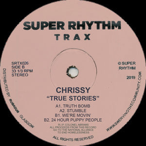"CHRISSY - TRUE STORIES 12"" (SUPER RHYTHM TRAX)"