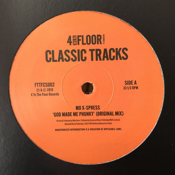 VARIOUS - 4 TO THE FLOOR CLASSICS V2 12