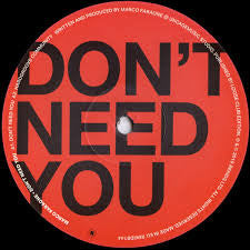 "MARCO FARAONE - DON'T NEED YOU 12"" (REKIDS)"
