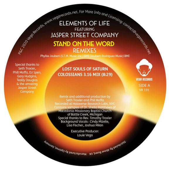 ELEMENTS OF LIFE - STAND ON THE WORD REMIXES 12