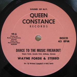"WAYNE FORD - DANCE TO THE BEAT... 12"" (QUEEN CONSTANCE)"