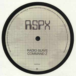 "RADIO SLAVE - COMMAND Z 12"" (REKIDS SPECIAL PROJECTS)"
