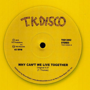 "TIMMY THOMAS - WHY CAN'T WE LIVE TOGETHER (LNTG REMIX) 12"" (TK DISKO)"