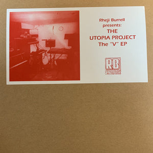 "THE UTOPIA PROJECT - THE *V* EP 12"" (RUNNING BACK)"