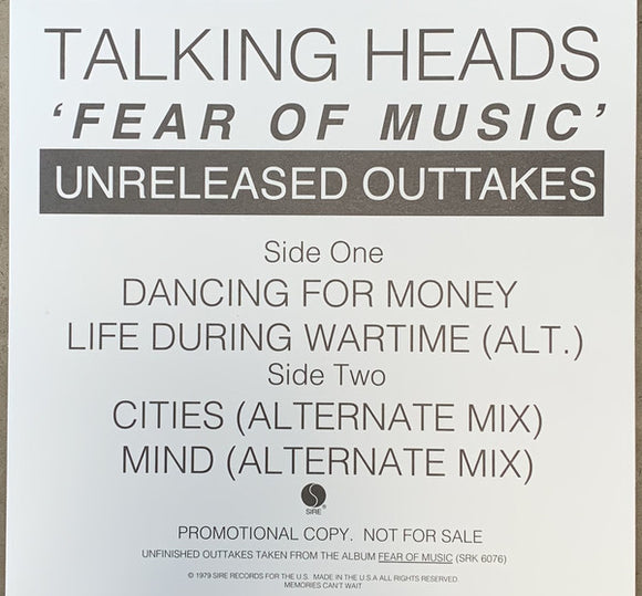 TALKING HEADS - FEAR OF MUSIC OUTTAKES 12