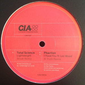"TOTAL SCIENCE / PHACTION - BREAK / ILL TRUTH RMXS 12"" (C.I.A.)"