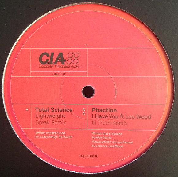 TOTAL SCIENCE / PHACTION - BREAK / ILL TRUTH RMXS 12