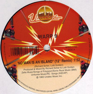 "WARP 9 - NO MAN IS AN ISLAND 12"" (UNIDISC)"