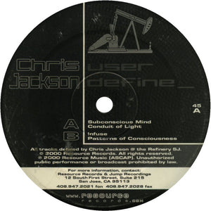 "CHRIS JACKSON - USER DEFINE 12"" (RESOURCE RECORDS)"