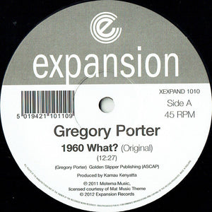 "GREGORY PORTER - 1960 WHAT? 12"" (EXPANSION)"
