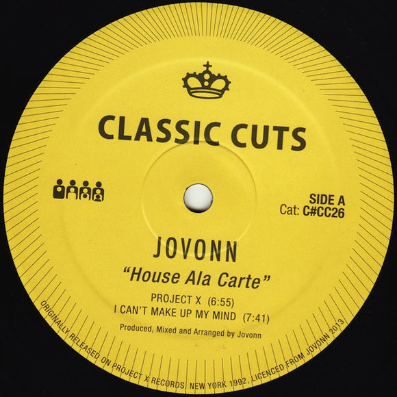 JOVONN - HOUSE ALA CARTE 12