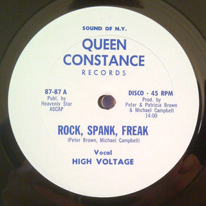 "HIGH VOLTAGE - ROCK, SPANK, FREAK 12"" (QUEEN CONSTANCE)"
