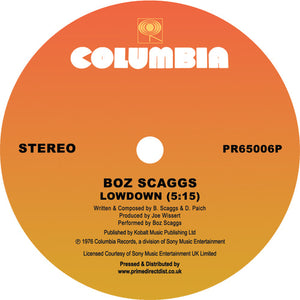 "BOZ SCAGGS - LOWDOWN 12"" (COLUMBIA)"