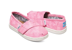 TOMS PINK CANVAS TIE DYE TINY CLASSICS