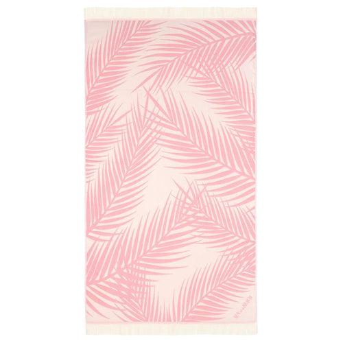Feather Beach Towel Palm Springs Pink