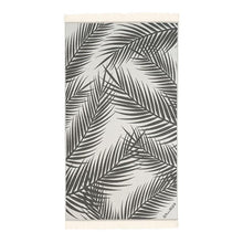 Load image into Gallery viewer, Feather Beach Towel Palm Springs Black
