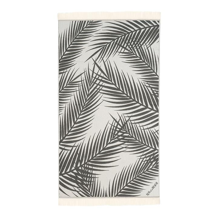 Feather Beach Towel Palm Springs Black