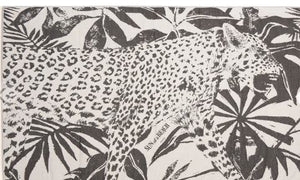 Feather Beach Towel Jungle Leopard Black