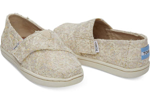 Toms Tiny Natural  Daisy Metallic