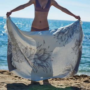 Feather Beach Towel Pineapple Sorbet Lilac