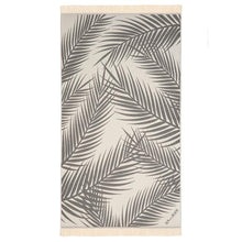 Load image into Gallery viewer, Feather Beach Towel Palm Springs Grey
