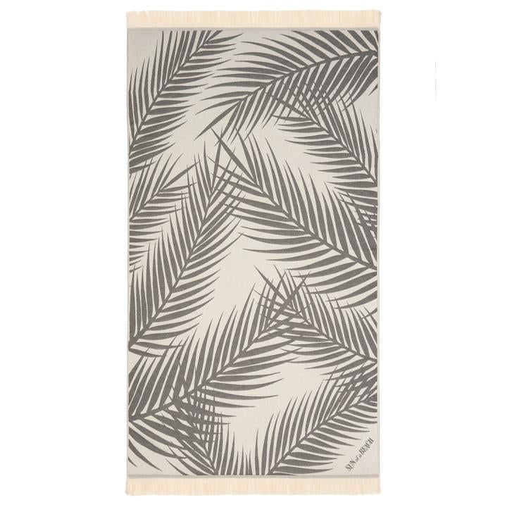 Feather Beach Towel Palm Springs Grey