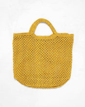 Load image into Gallery viewer, Large Jute Macrame Bag Yellow