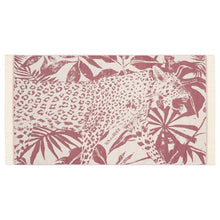Load image into Gallery viewer, Feather Beach Towel Jungle Leopard Burgundy