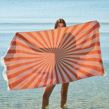 Load image into Gallery viewer, Feather Beach Towel Sunburst