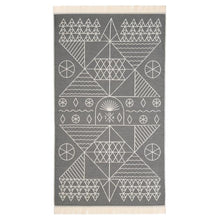 Load image into Gallery viewer, Feather Beach Towel Tinos Grey