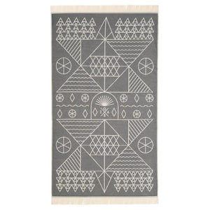 Feather Beach Towel Tinos Grey