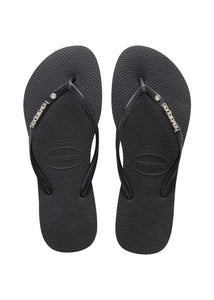 Havaianas Slim Metal Logo and Crystal 4129769