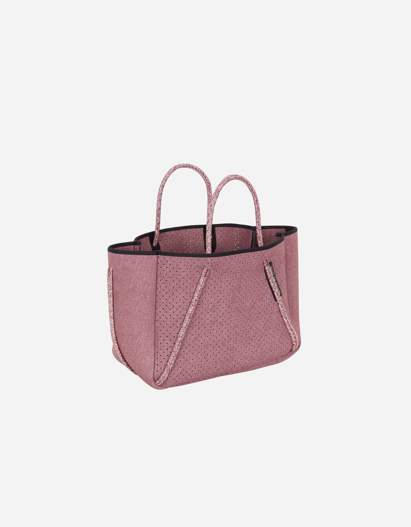 Petite Guise tote bag in washed rose denim print