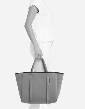 PRE-ORDER // City East West tote in smoke