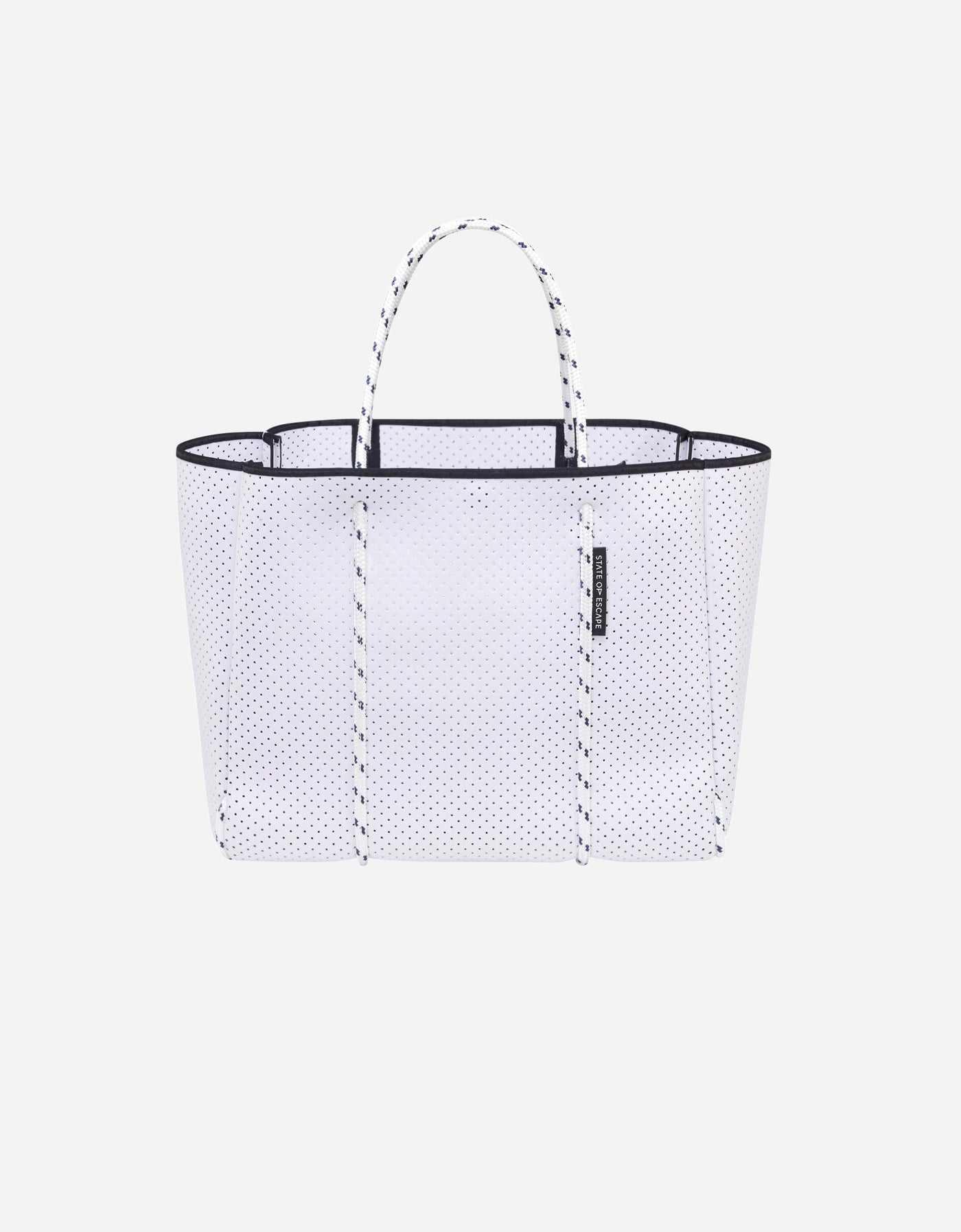 Flying solo tote in white