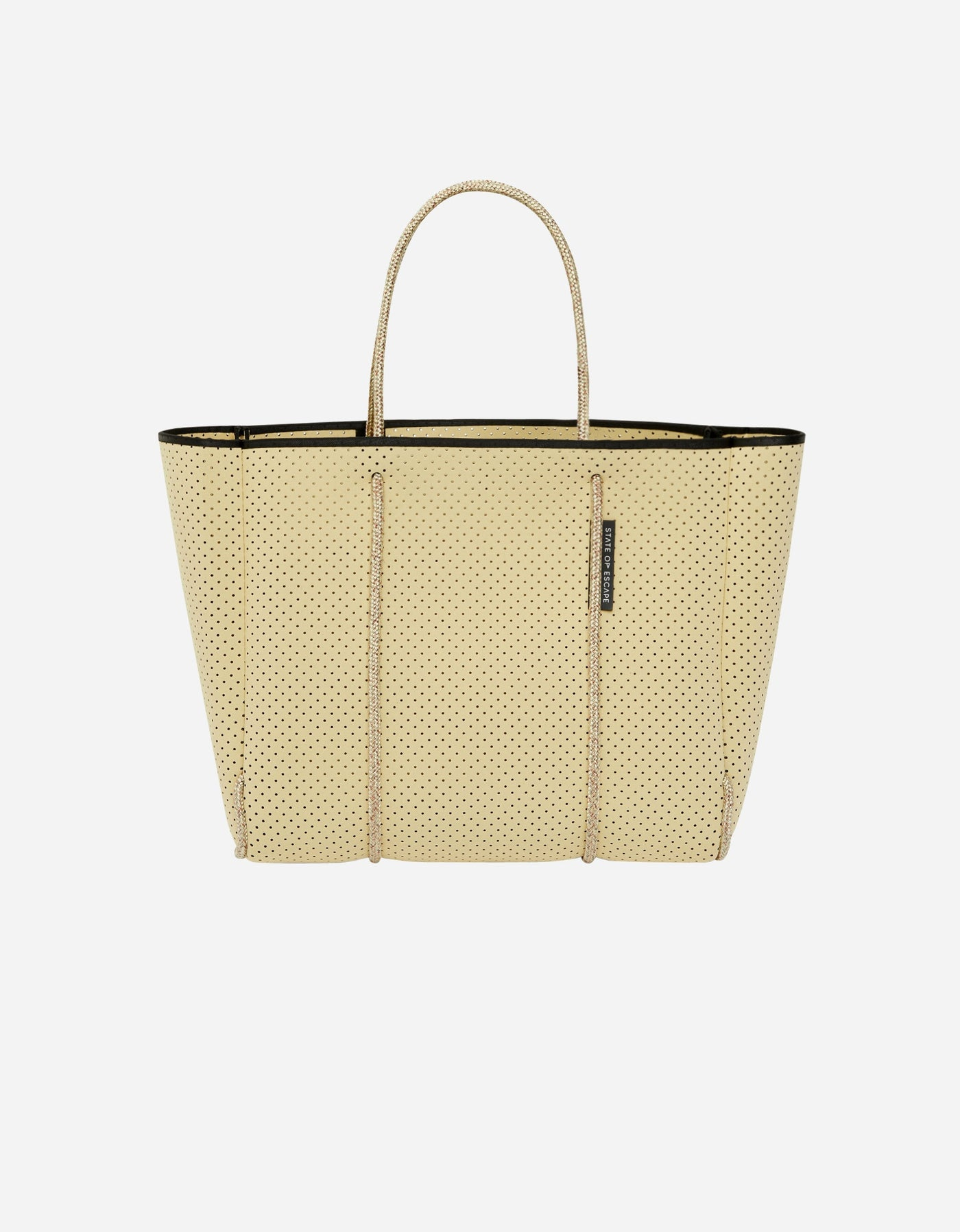 Flying solo tote in buttermilk