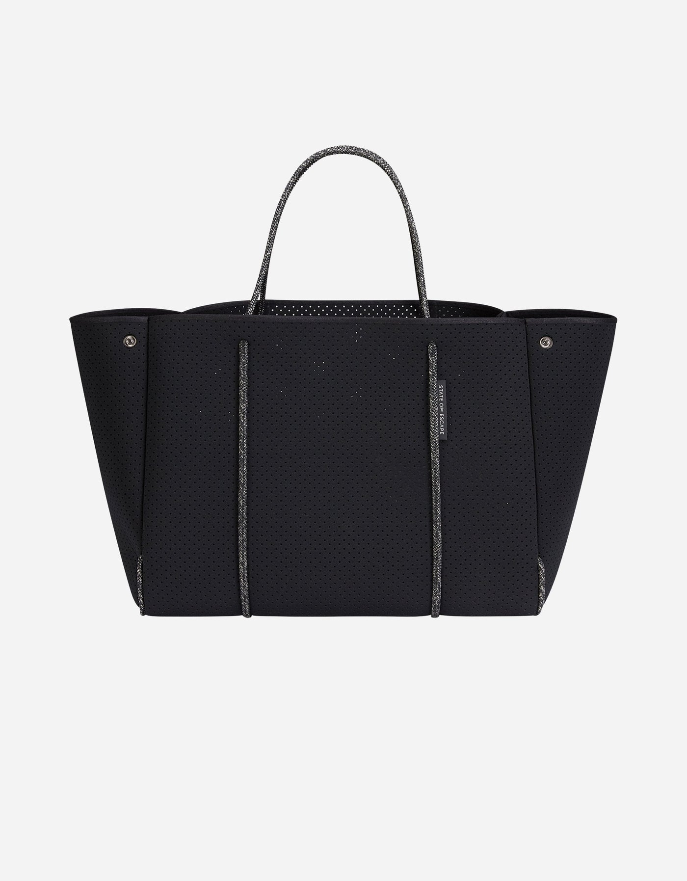 Escape tote in black with blended rope