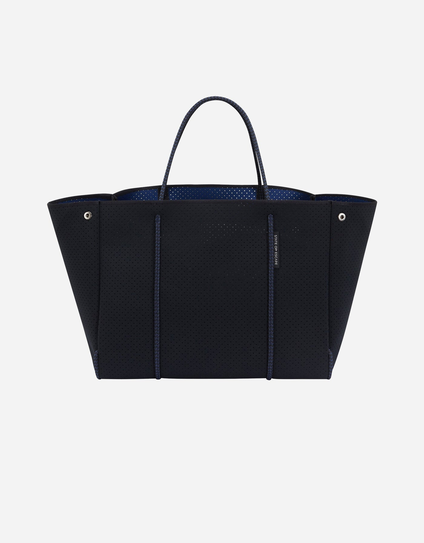 Escape tote in black / navy (dual tone)