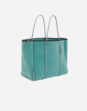 Flying solo tote in sea glass